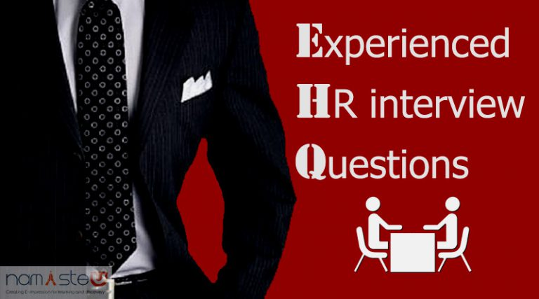 Experienced HR Interview Questions