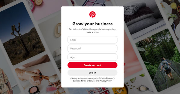 create pinterest account